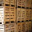 The wooden boxes — Stock Photo