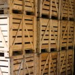The wooden boxes - Stock Photo