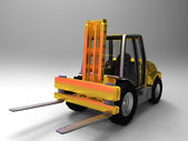 Yellow Fork Lift Truck — Stock Photo