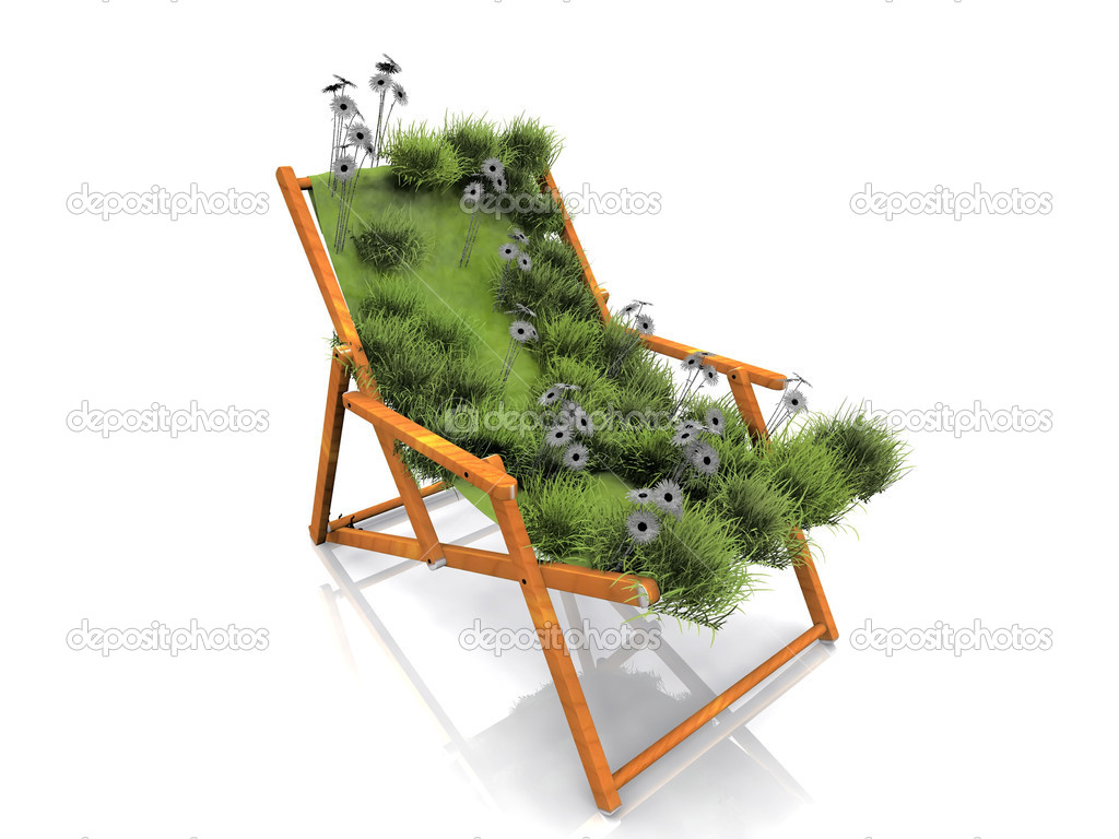 Garden lounge chair — Stock Photo #6584415