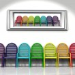 Many color chairs — Stock Photo