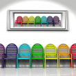 Many color chairs — Stock Photo #6594055