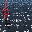 3d red treble clef — Stock Photo