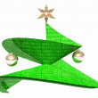 Green abstract Cristmas tree — Stock Photo