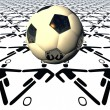 3D soccer ball   — Stock Photo