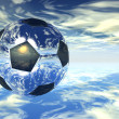 Glass soccer ball  — Stock Photo