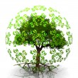 Tree in bubble — Stock Photo