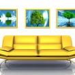 Yellow sofa — Foto Stock #6597023