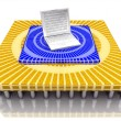 Stock Photo: 3D portable microprocessor