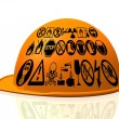 Yellow hard hat — Stock Photo #6597256