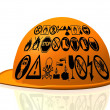 Yellow hard hat — Stock Photo