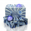 Cube with blue bubbles — Stock Photo #6597636