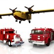 Firefighters transports — Stock Photo