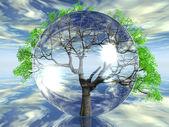 Strom v bublině — Stock fotografie