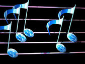 Illustration of music notes — Stock Photo