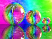 Gröna växter i en bubblor. — Stockfoto