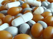 Een heleboel medische pillen — Stockfoto