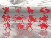 Czerwone znaki zodiaku — Zdjęcie stockowe