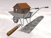 Narzędzia do budowy domu — Zdjęcie stockowe