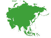 Map of Asia — Stock Photo