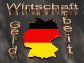 Mappa 3d della germania — Foto Stock