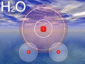 H2o molecules — Stock Photo