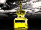 3D Perfume bottle — Stock Photo