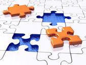 Einfache 3d puzzle — Stockfoto