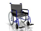 3d wheelchair — Stock Photo