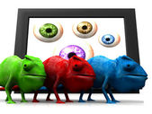 Colored chameleons — Stock Photo