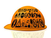 Yellow hard hat — Stock Photo
