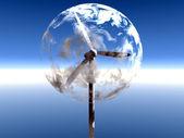 Wind-generator in einer blase — Stockfoto