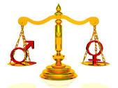 两性平等 — 图库照片