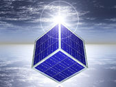 Cube solar panels — Stock Photo