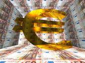 Gold euro sign — Stock Photo