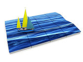 Sea and yacht — Stock Photo