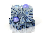 Cube with blue bubbles — Stock Photo