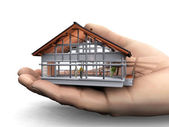 House in the hand — Stock Photo