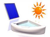 Solar heating — Stock Photo