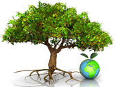 Tree and the planet — Stock Photo