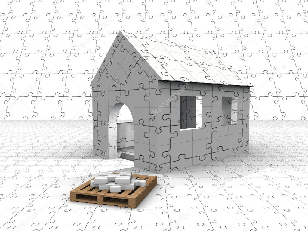 Puzzle house — Stock Photo #6593755