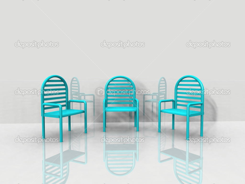 Blue chairs — Stock Photo #6594042