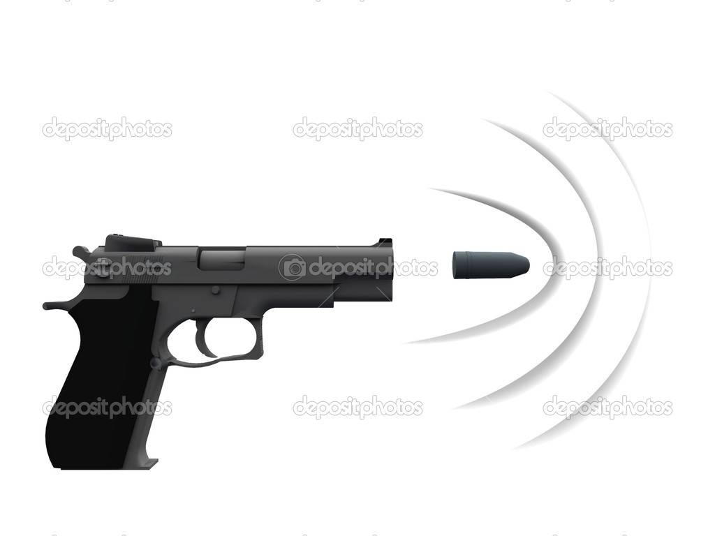 Gun with a bullet — Stock Photo © njaj #6597412