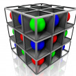 Royalty-Free Stock Photo: Cube and balls