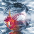 A transparent ball containing shapes — Stock Photo