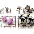 Illustration of farm animals. — Stock Photo