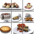 collage de dessert — Photo