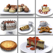 Dessert collage — Stock fotografie