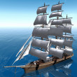 Sail ship — Stock Photo #6608278