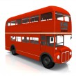 A red traditional London bus — Stockfoto